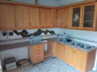 Remodelação de cozinha Roger Remodelações- Reparações Cozinhas pequenas Madeira Castanho