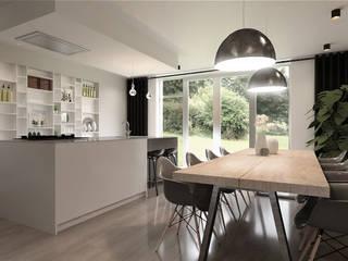 Ristrutturare significa rendere reali possibili desideri Cucina moderna di CLARE studio di architettura Moderno