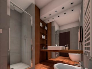 CLARE studio di architettura Modern bathroom Wood effect