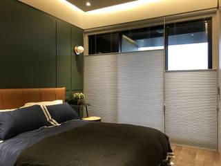 中西合璧的優雅新古典美宅  百葉簾.蜂巢簾 空間構成:安得利設計藝術公司 MSBT 幔室布緹 Small bedroom Wood-Plastic Composite Green