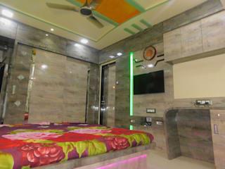 1 BHK PROJECT IN KANDIVALI: modern  by AXLE INTERIOR,Modern