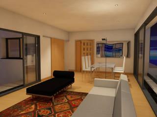Modern living room by Eduardo Coelho   Arquitecto Modern Concrete