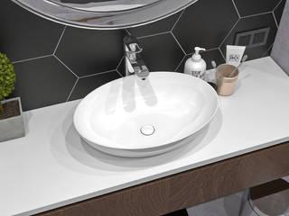Лофт апартаменты ЖК Елагин Апарт Ванная в стиле лофт от LEHOVA DESIGN Лофт