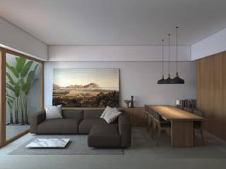 B|L House Salas de estar modernas por ALESSIO LO BELLO ARCHITETTO a Palermo Moderno