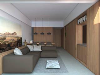 B|L House Salas modernas de ALESSIO LO BELLO ARCHITETTO a Palermo Moderno