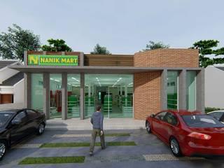"""mini market """"NANIK MART"""" Ruang Komersial Gaya Industrial Oleh ARK-chitect studio Industrial"""