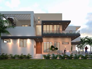 Ravi Prakash Architect Villas Reinforced concrete White