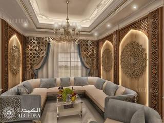 Small Majlis interior design for Luxury Classic Style Villa in Abu Dhabi by Algedra Interior Design Classic