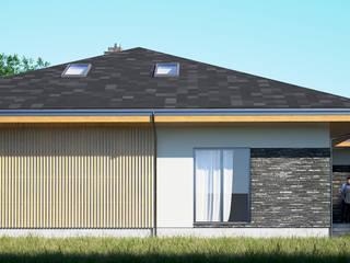 Одноэтажный дом с мансардой Дома в скандинавском стиле от PALIY Architects Скандинавский