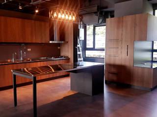 Industrial style kitchen by 微.櫥設計/We.Design Kitchen Industrial