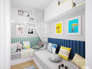 Kids Mint Granat Room od 4 kąty a stół 5 Pracownia Projektowa Ewelina Białobrzewska Nowoczesny