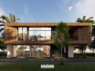 Sky and Sea โดย The OnGround บริษัทรับสร้างบ้านสไตล์ Modern Japanese ทรอปิคอล