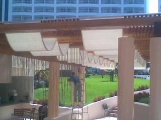 Toldo Romano exterior Hoteles de estilo moderno de ACY Diseños & Muebles Moderno