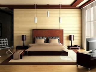 3BHK Flat @ Sarjapur Modern style bedroom by Redpost Interiors Modern