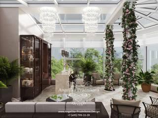 Jardines de invierno de estilo moderno de Дизайн-студия элитных интерьеров Анжелики Прудниковой Moderno