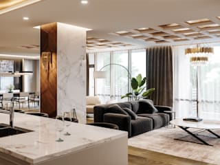 Carrie Long Modern Living Room by Omega Render Modern