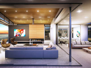 Modern Living Room by Green Evolution Architecture Modern