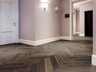 Cadorin Group - Chevron - American Walnut de Cadorin Group Srl - Top Quality Wood Flooring Rústico