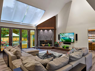 Contemporary Home Remodel Modern Living Room by KAS Modern