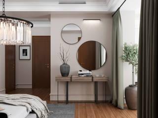 Дымчатая гора Спальня в классическом стиле от Дизайн-бюро Анны Шаркуновой 'East-West' Классический