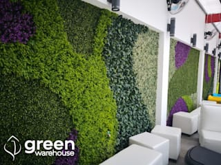Green Warehouse Interior landscaping