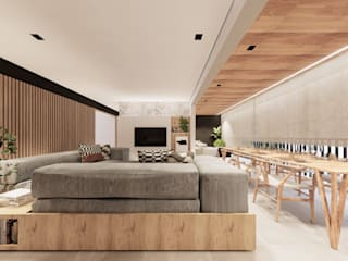 Salon minimaliste par Saulo Magno Arquiteto Minimaliste