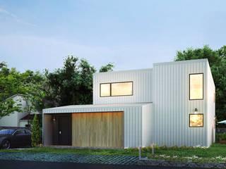빛과 바람이 창문을 넘나들어 자연과 친화적인 주택 by 공간제작소(주) 모던