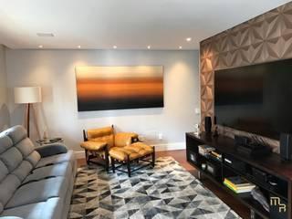 Apartamento Higienópolis Salas multimídia modernas por Marcela Rocca Arquitetura & Interiores Moderno