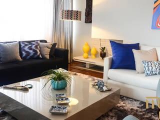 Apartamento em Moema Salas de estar modernas por Marcela Rocca Arquitetura & Interiores Moderno