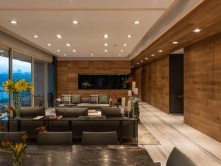 Salas de estar modernas por Concepto Taller de Arquitectura Moderno