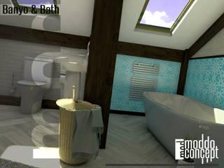 Moddo Concept Mediterranean style bathrooms Wood Turquoise