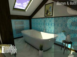 Moddo Concept Mediterranean style bathrooms Ceramic Turquoise