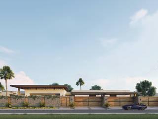 Residencia con diseño Contemporáneo Casas modernas de Merarki Arquitectos Moderno