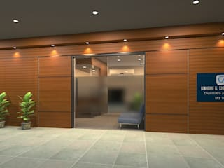 Office Interior Modern style doors by Ask Design and Build Modern