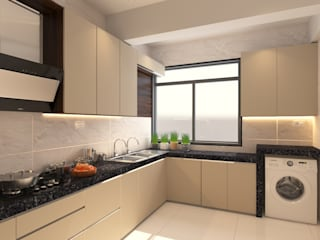 3bhk Residential Apartment Banglore Modern kitchen by Ask Design and Build Modern