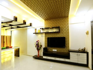 Interior Design of Mr.Santosh Patil's Residence Modern living room by Neha Dharkar Modern