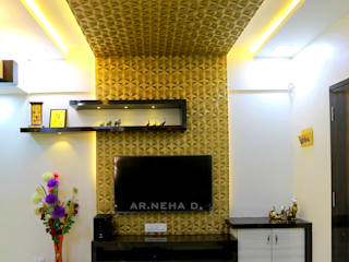 Interior Design of Mr.Santosh Patil's Residence : modern  by Neha Dharkar,Modern
