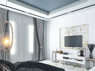 residence interior Minimalist bedroom by HOC DesignArch Pvt Ltd Minimalist