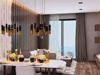 Апартаменты холостяка Гостиная в стиле минимализм от ROKHA interiors Минимализм