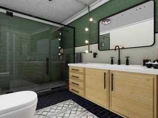 Banyo Tasarımı Endüstriyel Banyo arch-vis Endüstriyel
