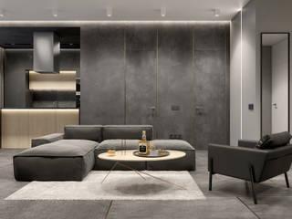 Дизайн проект трехкомнатной квартиры Гостиные в эклектичном стиле от Бюро 25 | Дизайн интерьера | Архитектура | Краснодар Эклектичный