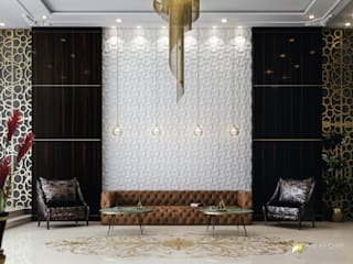 Hilton Bomonti Hotel / İstanbul Pixel Art CHIEF Koridor, Hol & MerdivenlerKanepeler Bakır/Bronz/Pirinç Ahşap rengi
