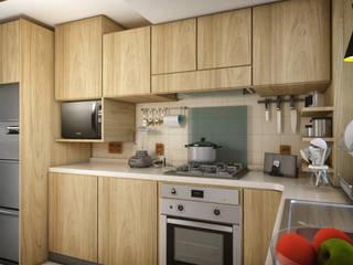 Remodelación de cocina en Ciudad de México de GA Experimental Moderno