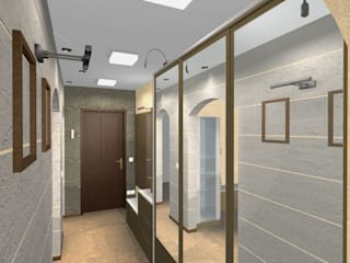 Дизайн 3-х комнатной квартиры Коридор, прихожая и лестница в модерн стиле от Шумилов Андрей архитектор - дизайнер Модерн