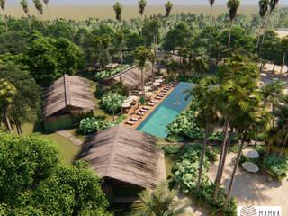 MAMBAZAMBIA - ECOHOUSING Habitaciones de estilo tropical de TORO VARGAS Asesoria & Construccion s.a.s Tropical