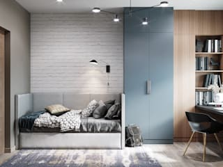 Chambre d'enfant scandinave par DesignNika Scandinave