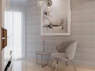 De Panache Salones de estilo moderno Azulejos Blanco
