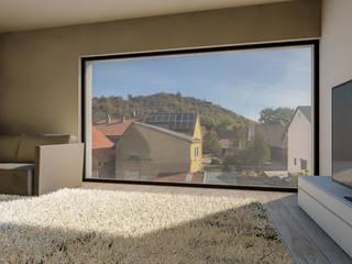 Steffen Wurster Freier Architekt Modern living room Beige