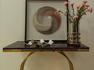 De Panache Salones de estilo moderno Vidrio Beige