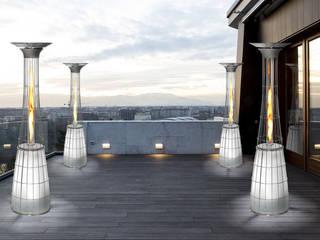 Terrazze e spazi aperti illuminati e riscaldati dalle stufe a gas da esterno Dolcevita ITALKERO SRL Balcone, Veranda & TerrazzoAccessori & Decorazioni
